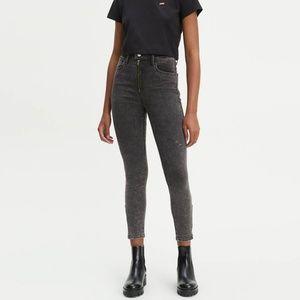 Levi's Mile High Rise Skinny Moto Jeans